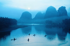 Chinese guilin scenery Stock Photos