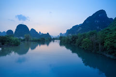 Chinese guilin yangshuo landscape Royalty Free Stock Photography
