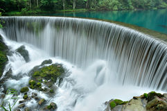 Chinese guizhou small seven holes of the waterfall. Royalty Free Stock Photos