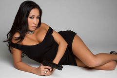 Chinese Gun Woman. Beautiful chinese gun woman stock photos