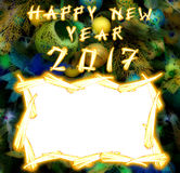 Chinese Haan 2017 Nieuwe Year& x27; s ontwerpachtergrond Royalty-vrije Stock Foto