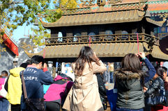 Chinese halloween. People are praying in the temple on Chinese halloween Royalty Free Stock Images