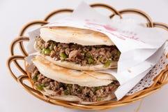 Chinese hamburger, Shaanxi-kenmerk royalty-vrije stock afbeeldingen