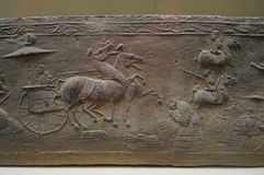 Chinese Han Dynasty brick. In the Shenzhen Museum exhibition. In China Royalty Free Stock Photography
