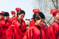Chinese Han-style mass wedding Stock Images