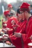 Chinese Han-style mass wedding Royalty Free Stock Image
