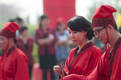 Chinese Han-style mass wedding Royalty Free Stock Photos