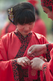 Chinese Han-style mass wedding Royalty Free Stock Photo