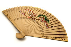 Chinese hand-held fan. On a white background Royalty Free Stock Photos