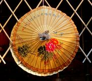Chinese Hand-Painted Oil-Paper Umbrella Stock Image