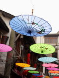 Chinese handcraft--oil paper umbrella Stock Photos