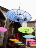 Chinese handcraft--oil paper umbrella Stock Photos