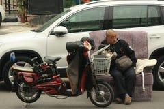 Chinese handelaar, koper-omhoog Stock Fotografie
