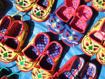 Chinese handicrafts. Very distinctive tiger shoes stock photography
