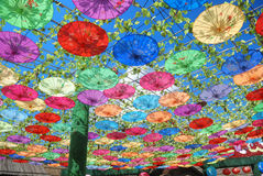 Chinese handmade oilpaper umbrella Stock Photography
