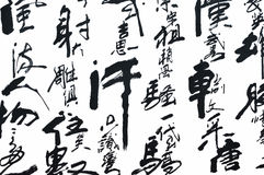 Chinese handwriting art. Chinese character handwriting, is a kind of traditional art and national culture style Stock Images
