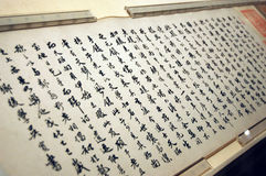 Chinese handwriting art. Close-up of Chinese handwriting art Royalty Free Stock Photo
