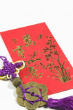 Chinese hanging decoration and money wallet Royalty Free Stock Photography