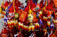Chinese hangings. There're colored chinese hangings with good colors and shape Stock Image