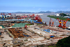 Chinese harbour Stock Image