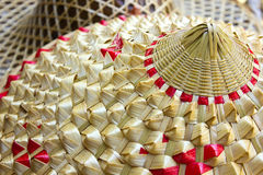 Chinese hat. Chinese style rattan hat used by farmers Royalty Free Stock Photos
