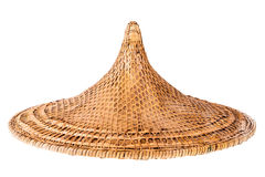 Chinese hat. A traditional chinese hat isolated over a white background Royalty Free Stock Photography