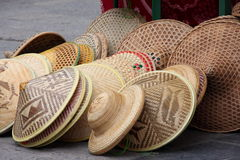 Chinese Hats màozi. This is a shot of some chinese hats. In mandarin they are called màozi. They are also called bamboo hats (gōng) , referring to the Royalty Free Stock Photos