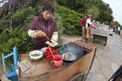 Chinese hawker in China Stock Photos