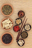 Chinese Healing Herbs Stock Photo