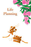 Chinese healthy knot dropping life planning idea Stock Image