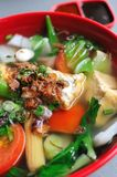 Chinese healthy vegetable soup Stock Images