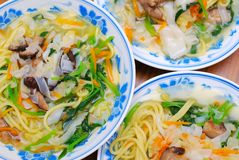 Chinese healthy vegetarian noodles Stock Photo