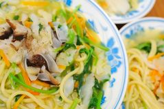 Chinese Healthy Vegetarian Noodles Royalty Free Stock Photography