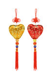 Chinese heart shape ornaments Royalty Free Stock Photo