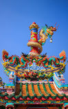 Chinese heiligdom en draakpool Royalty-vrije Stock Afbeelding