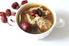 Chinese herb chicken soup Stock Photos