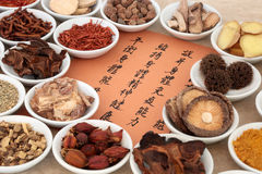 Chinese Herb Selection Stock Image