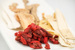Chinese herb and spice for medical soup preparation Royalty Free Stock Photography