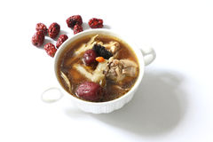 Chinese herbal chicken soup Royalty Free Stock Photography