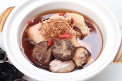 Chinese herbal chicken soup Stock Image