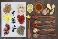 Chinese Herbal Health Teas Royalty Free Stock Photo