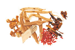 Chinese Herbal Ingredients Royalty Free Stock Photo