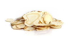 Chinese Herbal medicine - American Ginseng slices Stock Images