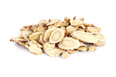 Chinese Herbal medicine - Astragalus slices Royalty Free Stock Photos
