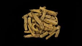 Chinese Herbal medicine Danshen. Chinese Herbal medicine on black background Stock Photography