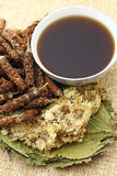 Chinese herbal medicine with ingredient Stock Photography