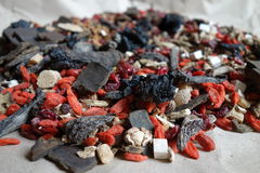 Chinese herbal medicine. In the market Stock Images