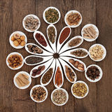 Chinese Herbal Medicine Platter Stock Photos