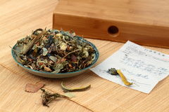Chinese herbal medicine. The scene of chinese drink Chinese traditional medicine Stock Image