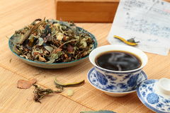 Chinese herbal medicine. The scene of chinese drink Chinese traditional medicine Royalty Free Stock Photos